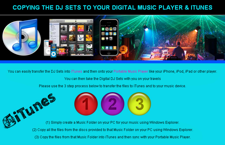 Copying The DJ Sets To Your Digital Music Player & iTunes